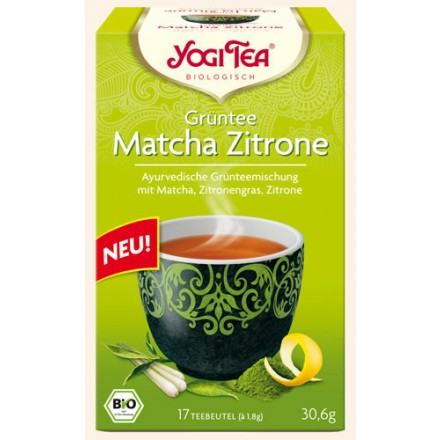 yogitea gr ntee matcha zitrone bio 17 teebeutel 30 6 g. Black Bedroom Furniture Sets. Home Design Ideas